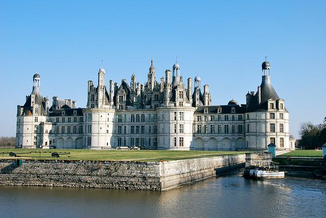 O castelo de Chambord no vale do Loire